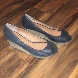 Lucky Brand Peep Toe Wedge Heels